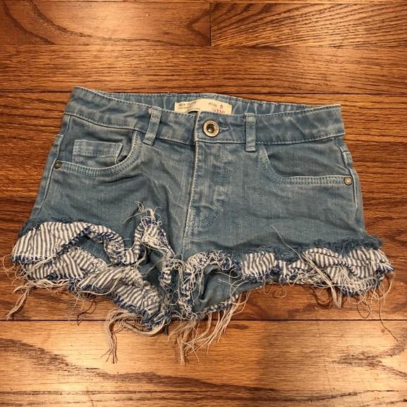 5a4cf1649e Zara Bottoms | Girls Cutoff Jean Shorts Size 5 | Poshmark